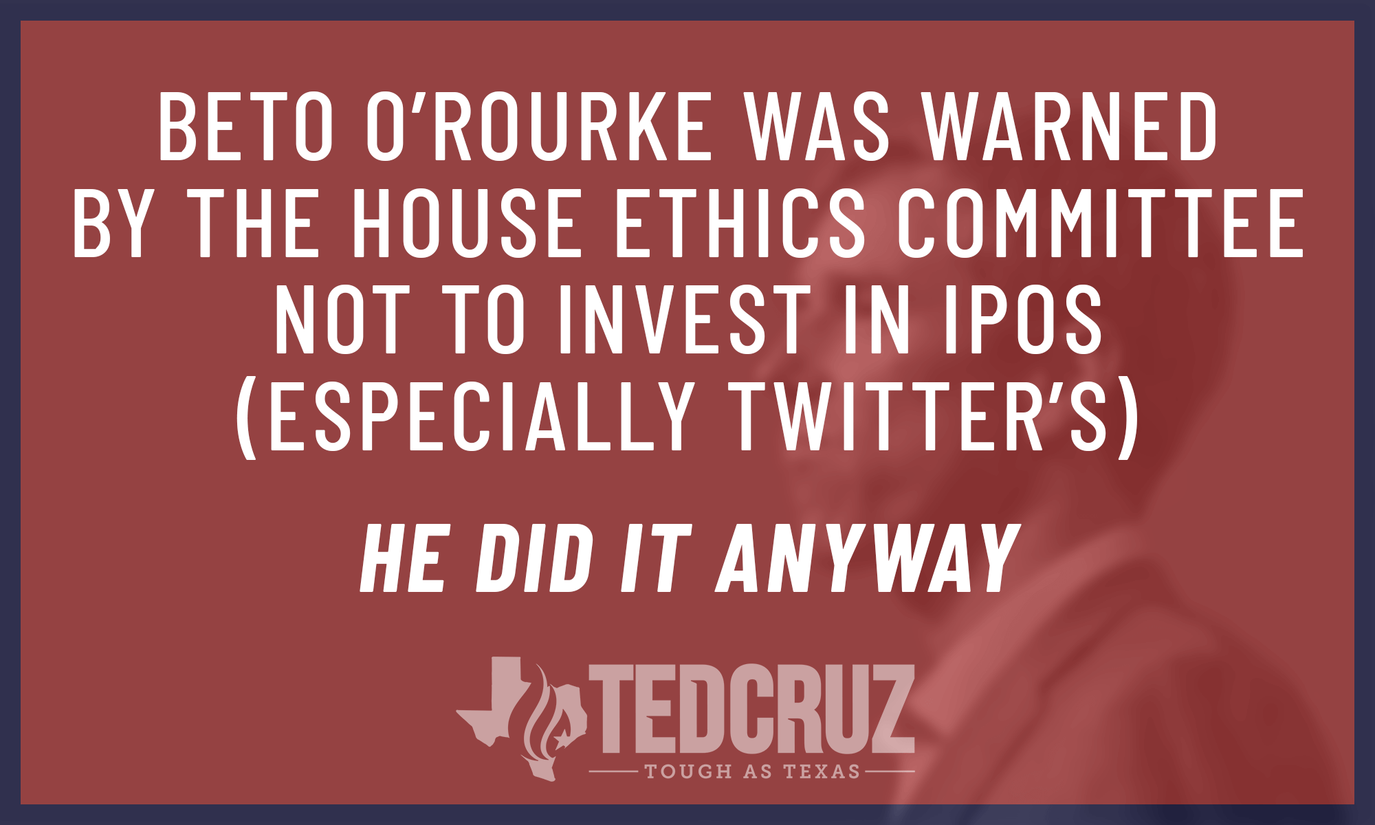tedcruz.org - LegiStorm: Rep. O'Rourke violated the STOCK Act by buying into IPOs
